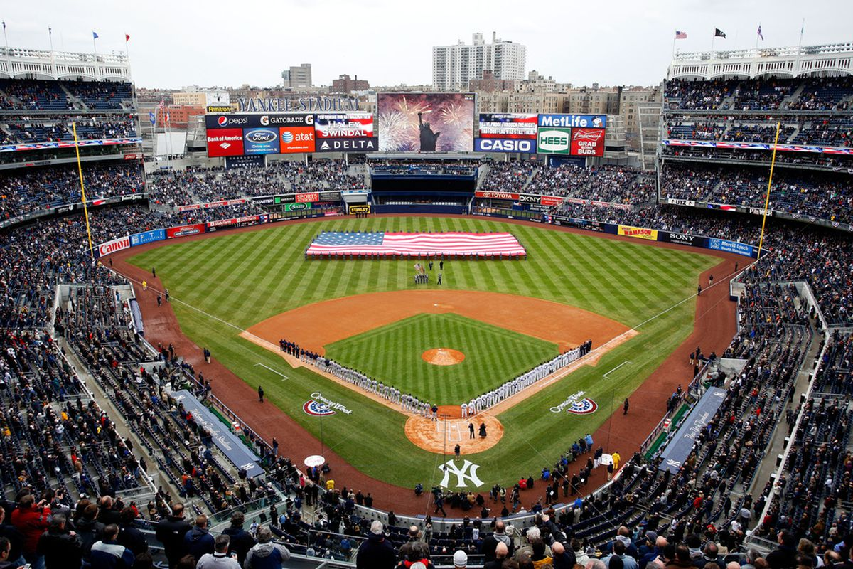 Detroit Tigers vs. New York Yankees...largely ignoring the news.