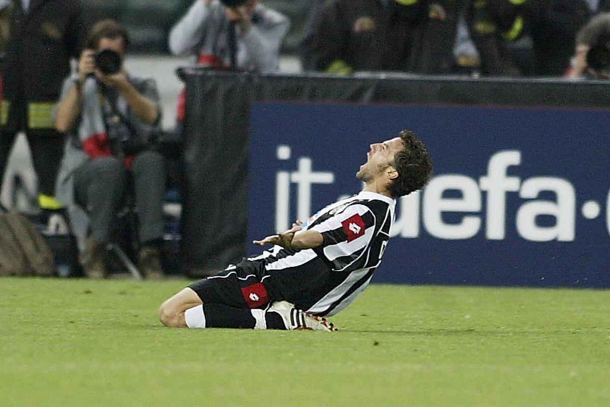 Del Piero Of Juventus Celebrates Goal