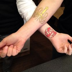 The Wooster Street Social Club was also hanging out temporary tattoos.