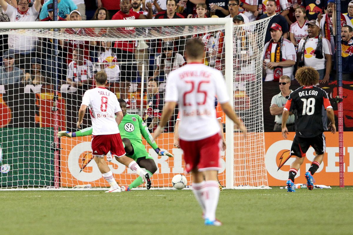 One half of the Red Bulls in this picture might not play this weekend. Also, LOL D.C. UNITED.