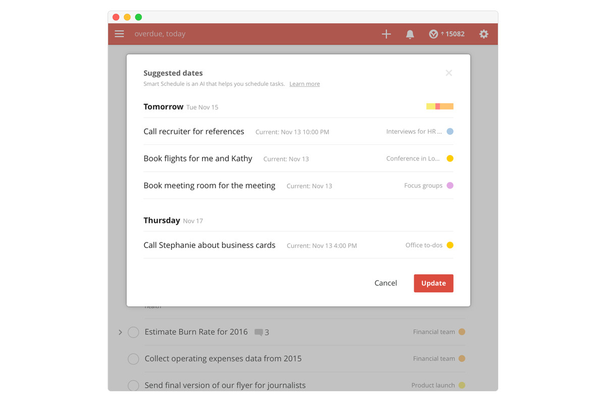 Todoist now lets AI software schedule your due dates - The Verge
