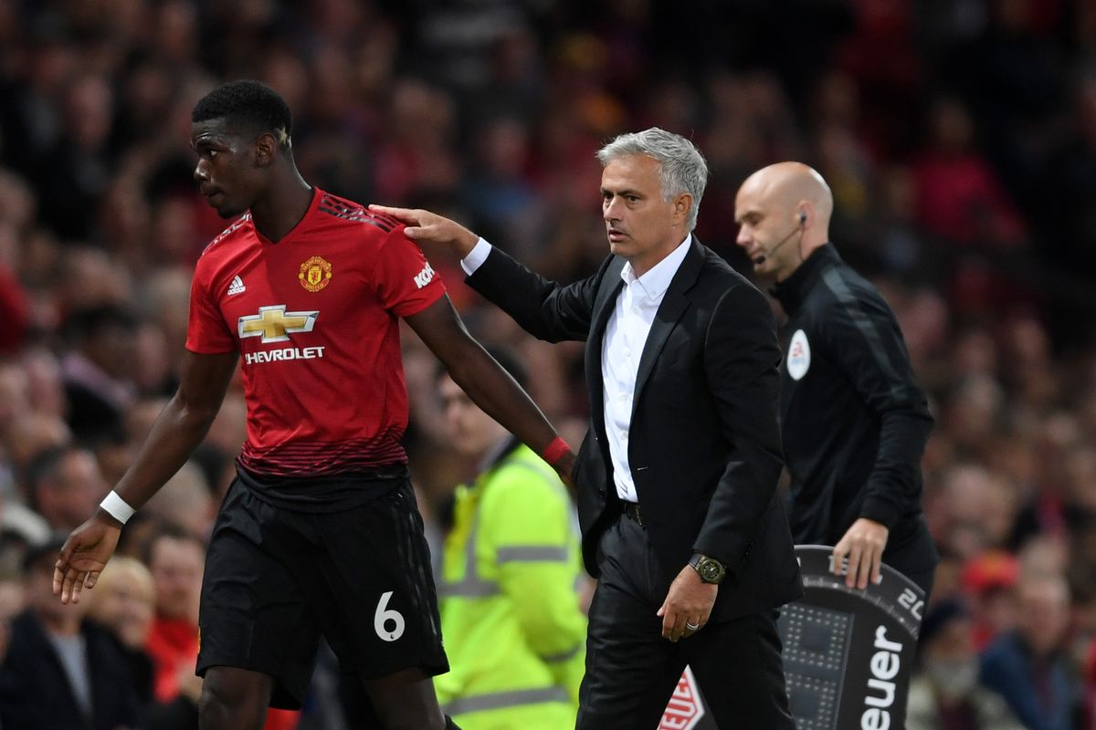 Image result for Paul Pogba with Mourinho