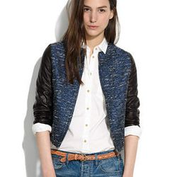 """<strong>Madewell</strong> Shimmerweave Bomber, <a href=""""https://www.madewell.com/newarrivals/jackets/PRDOVR~03700/99103108561/ENE~1+2+3+22+4294967294+20~~~0~15~all~mode+matchallany~~~~~bomber/03700.jsp"""">$224.50</a> (was $298)"""