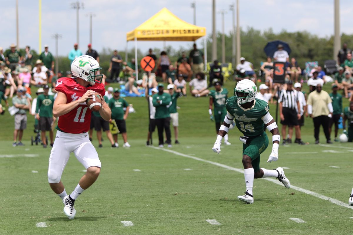Usf Football Spring Game Offense Is Fun Again Defense Making