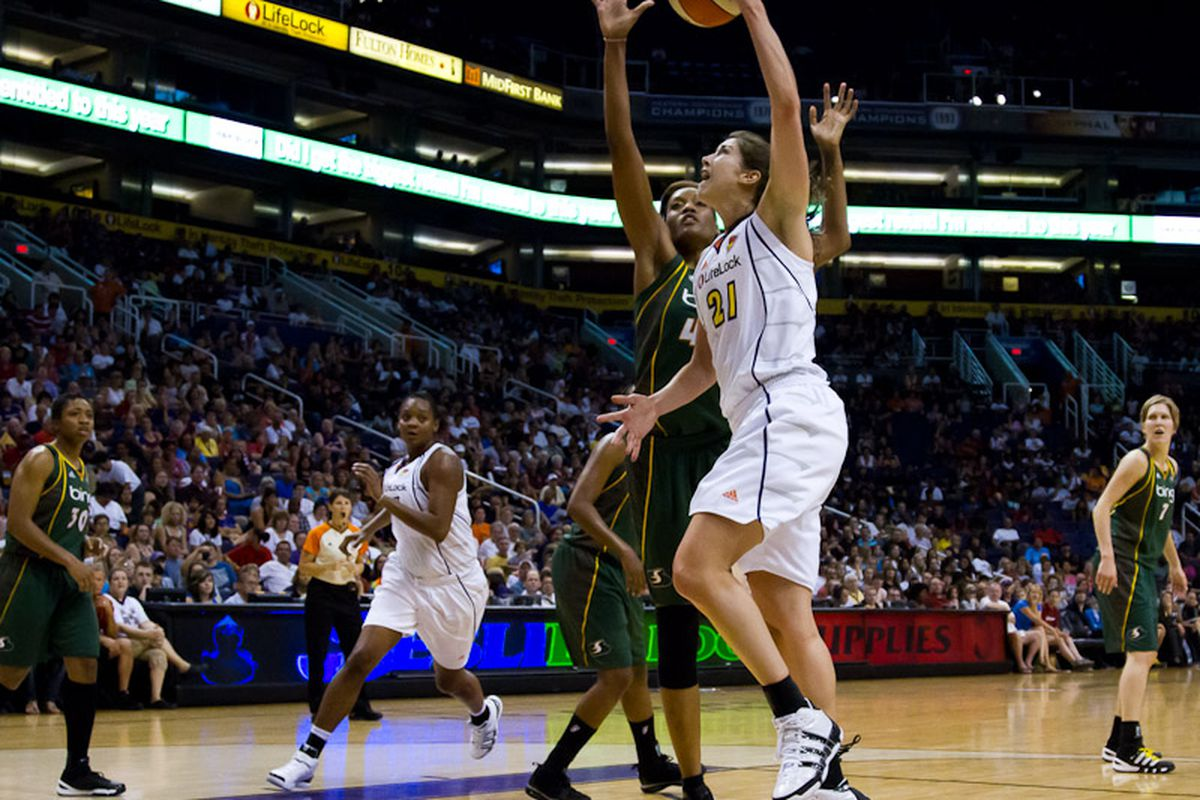 Seldom used Brooke Smith finished with 10 points on 5-for-5 shooting. (Photo by Ryan Malone)
