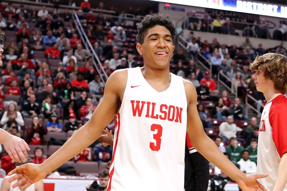 "Wilson High School Basketball Player Stevie Mitchell During The 2019 Boys Basketball Season""n"