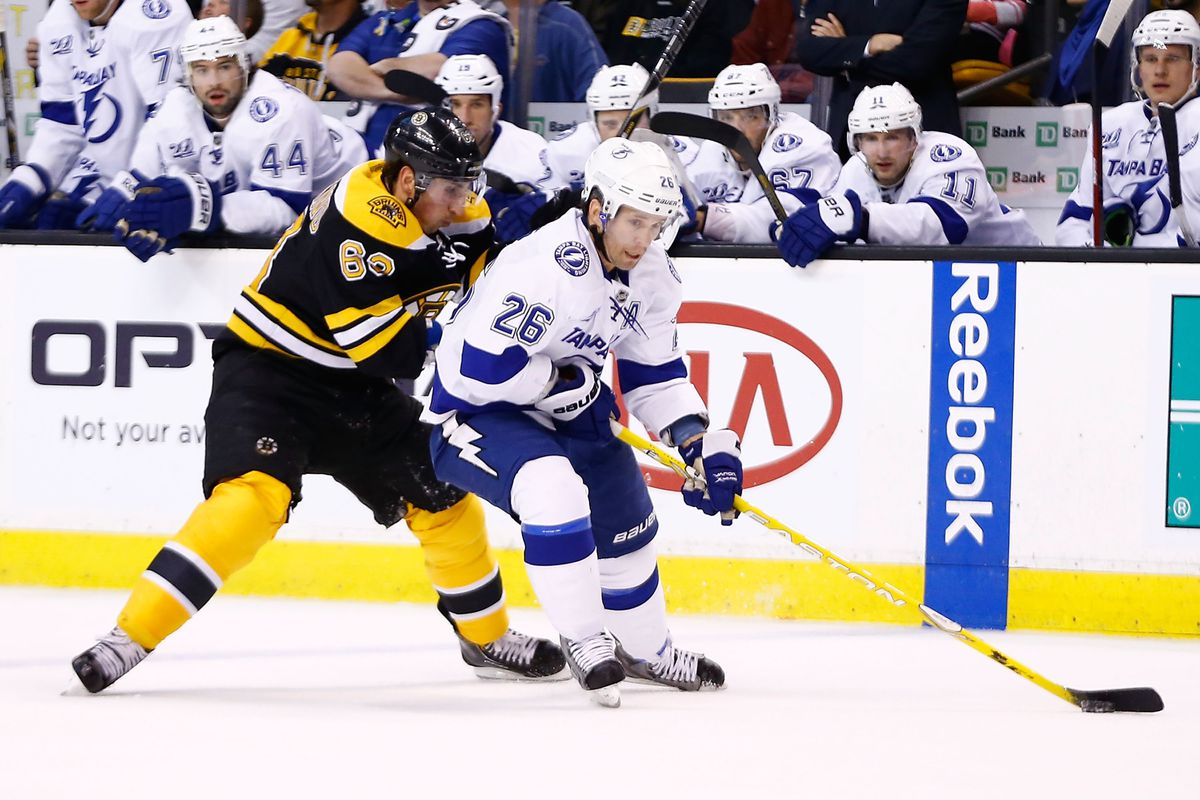Boston opens the 2013-14 season with a game at home against the Tampa Bay Lightning