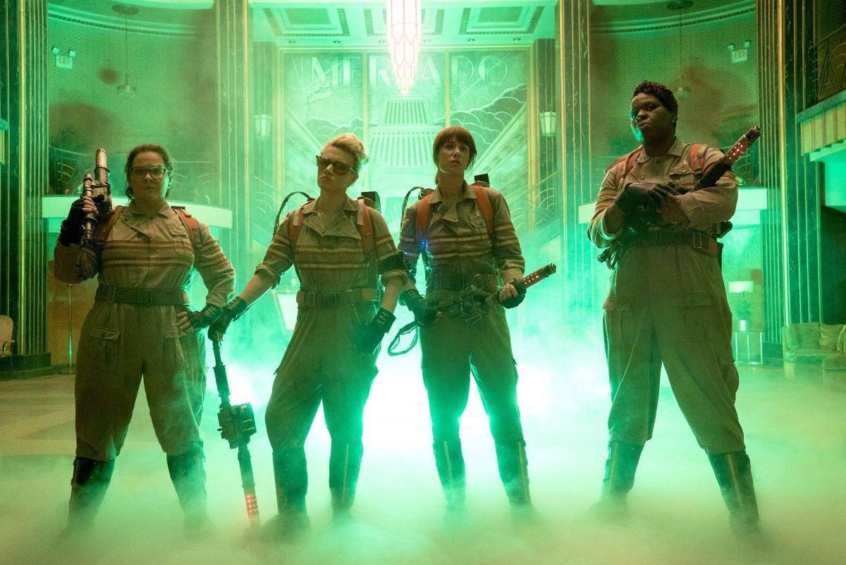 "Melissa McCarthy (from left), Kate McKinnon), Kristen Wiig andLeslie Jones in ""Ghostbusters."" | Columbia Pictures"