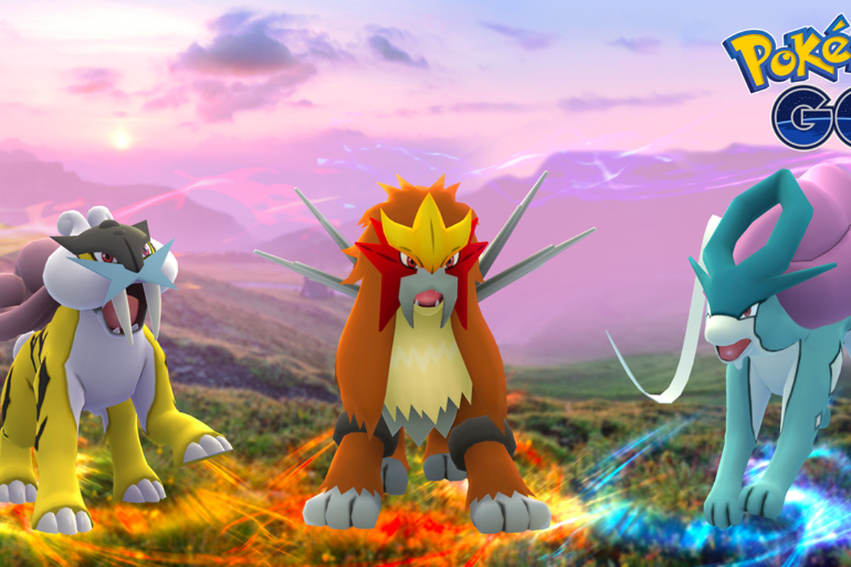 Legendary beasts Raikou, Entei, and Suicune coming to Pokémon Go today