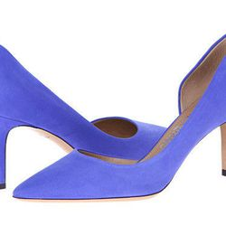 """<strong>Salvatore Ferragamo Pam Glass d'Orsay <a href=""""http://couture.zappos.com/salvatore-ferragamo-pam-glass-zaffiro-viola"""">Pumps</a> - $525.</strong> Here's the perfect spot to add your """"something blue"""". If you're wearing a shorter dress, your gams wil"""