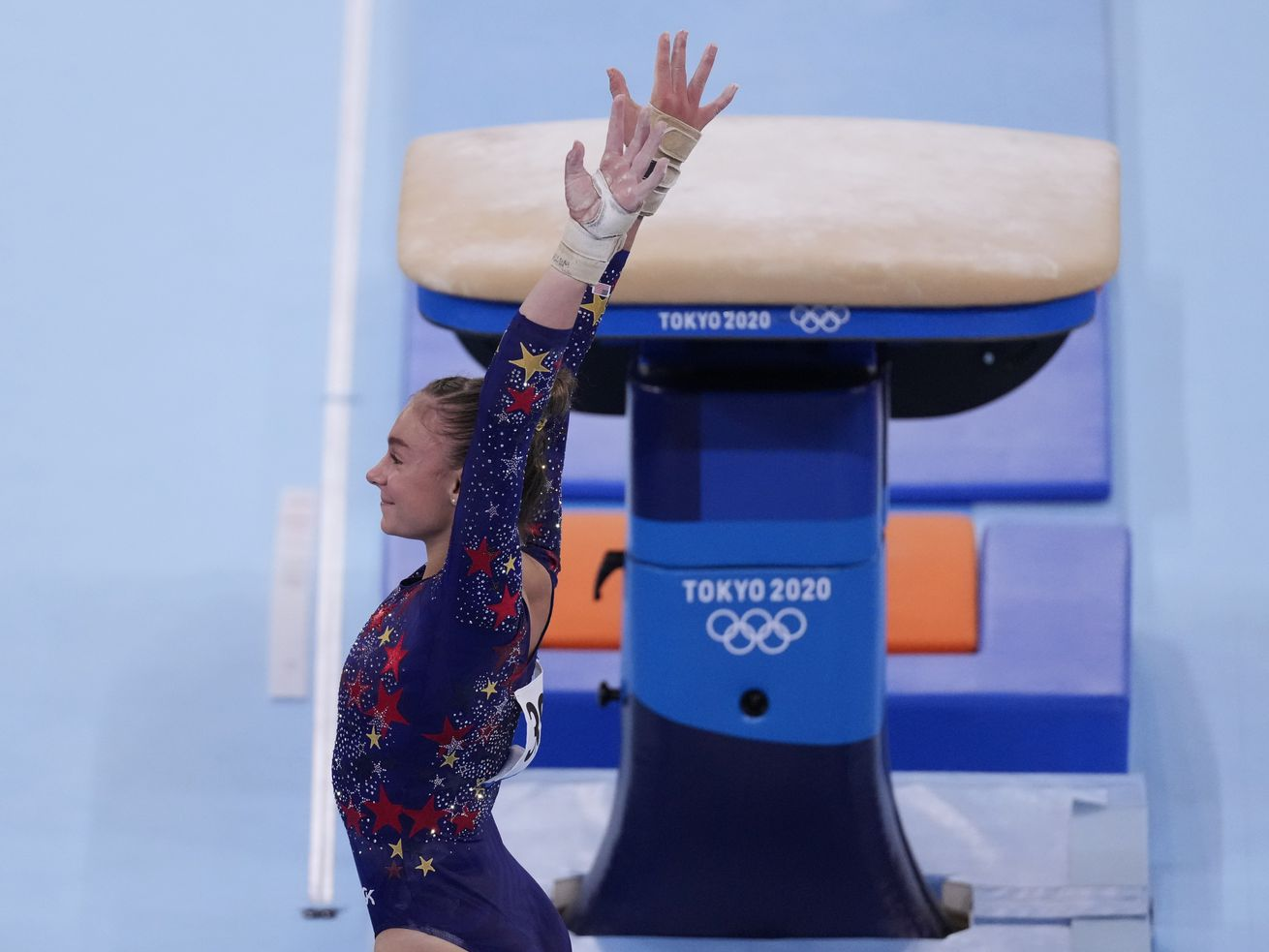 Grace McCallum was responsible for one of the more touching moments of the Olympics so far