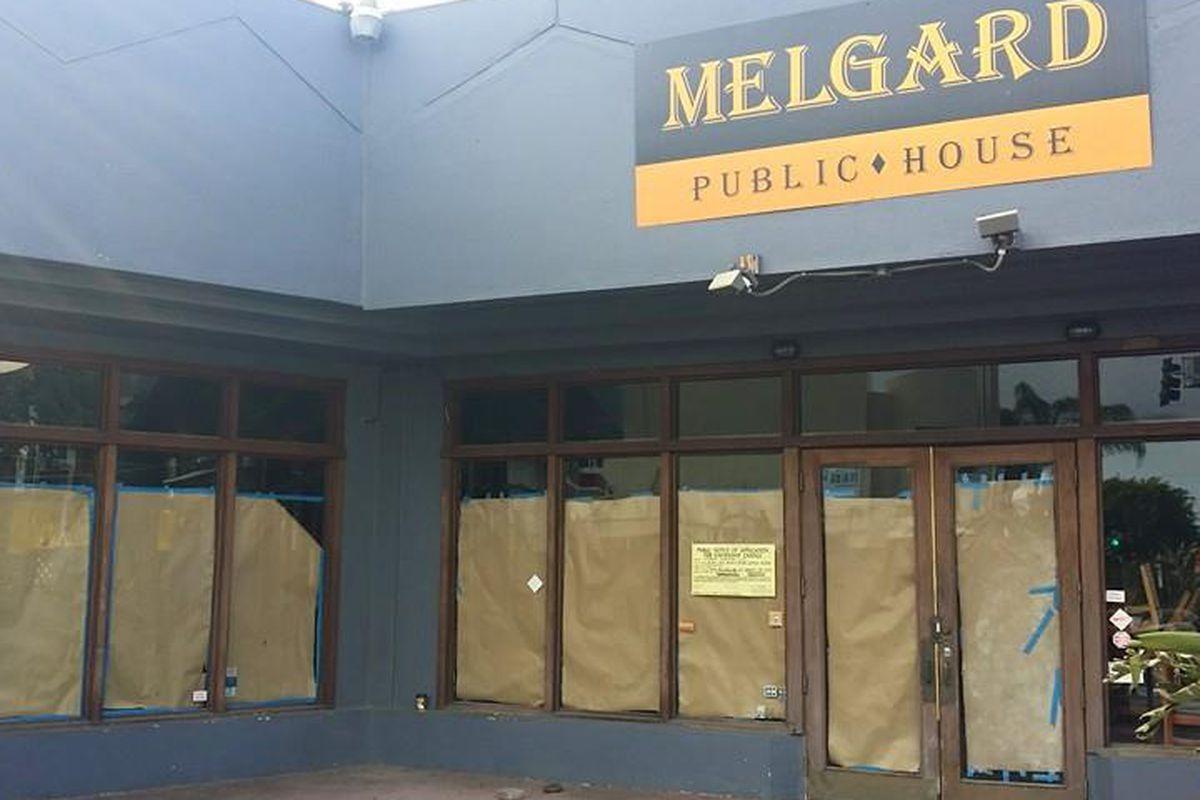 The former Melgard Public House on Melrose