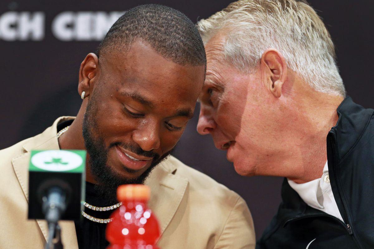 Boston Celtics Introduce New Players Kemba Walker And Enes Kanter