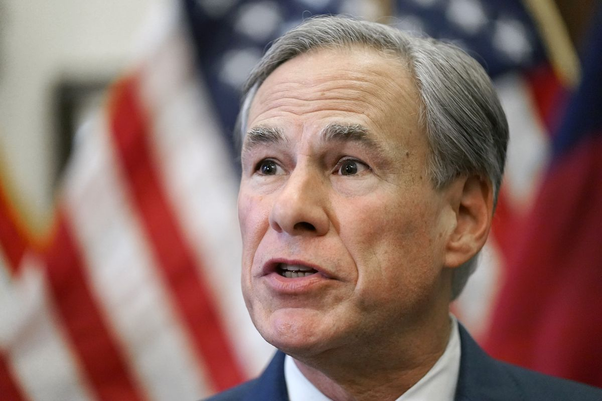 In this Tuesday, June 8, 2021, file photo, Texas Gov. Greg Abbott speaks at a news conference in Austin, Texas.