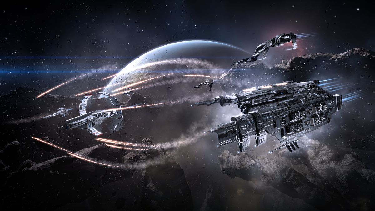 A scene from the game EVE Online.