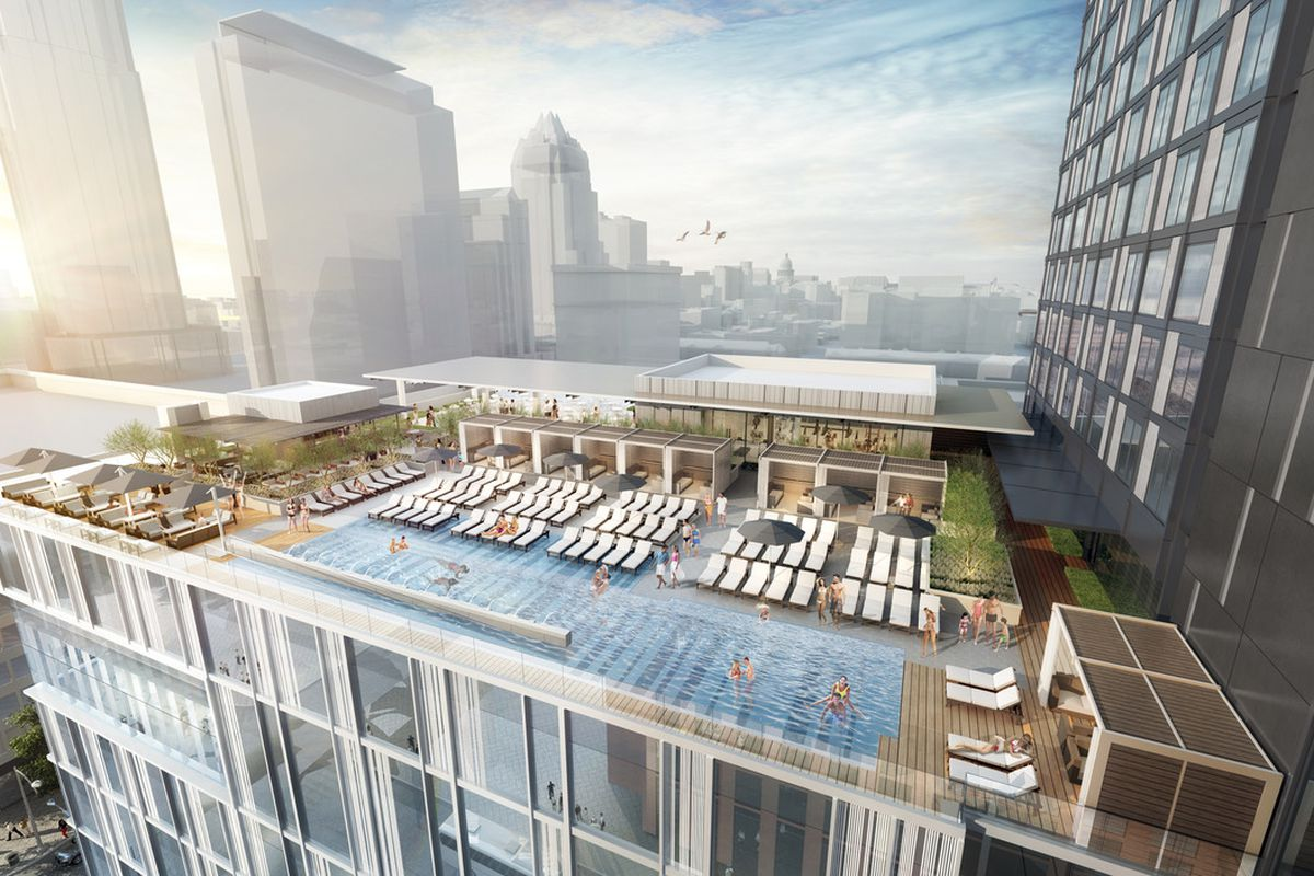 New Downtown Hotel Brings Another Rooftop Pool Bar Eater Austin