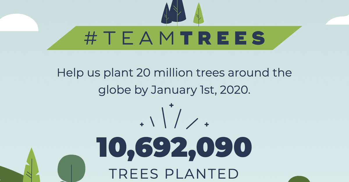 YouTubers raise $10 million for tree charity — and bring in tens of millions of views