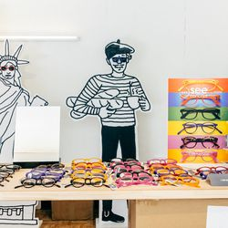 """<b>↑</b> Another of Dossier's shops is <a href="""" http://selimaoptique.com/"""">Selima Optique</a></b> (Fulton Street between Front Street and South Street), one of fashion's favorite brands for sunglasses and opticals. Handmade in France, the frames have sub"""