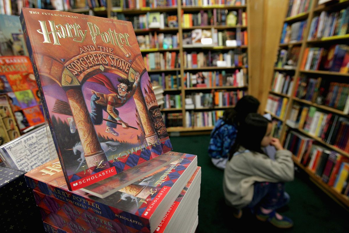 A Harry Potter book display at San Francisco's Clean Well-Lighted Place For Books in 2004