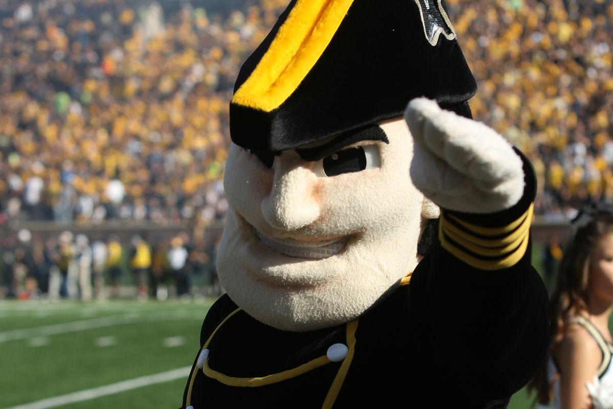 Vanderbilt's mascot is kind of intense.
