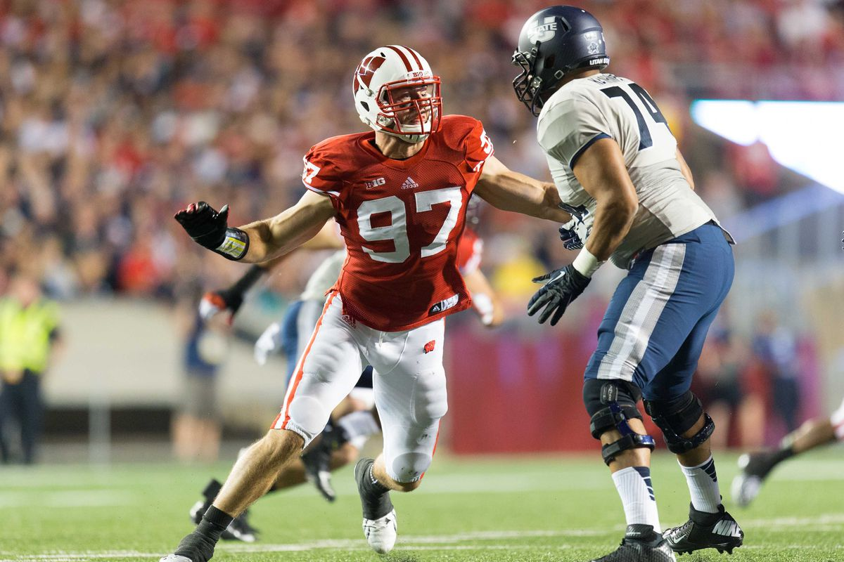 In his sixth year at Wisconsin, defensive lineman Brendan Kelly (left) could be a central cog in a new 3-4 defense.