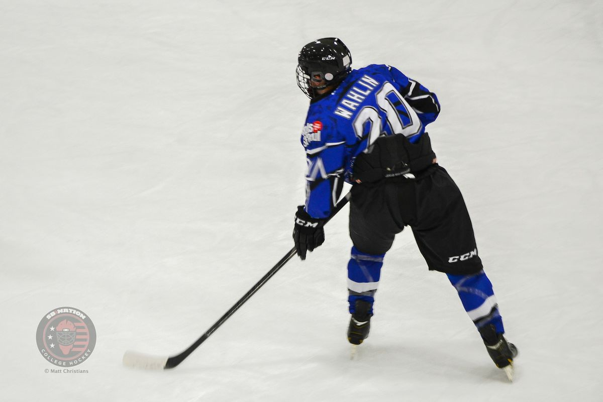 Wahlin, in Elite League action this past fall