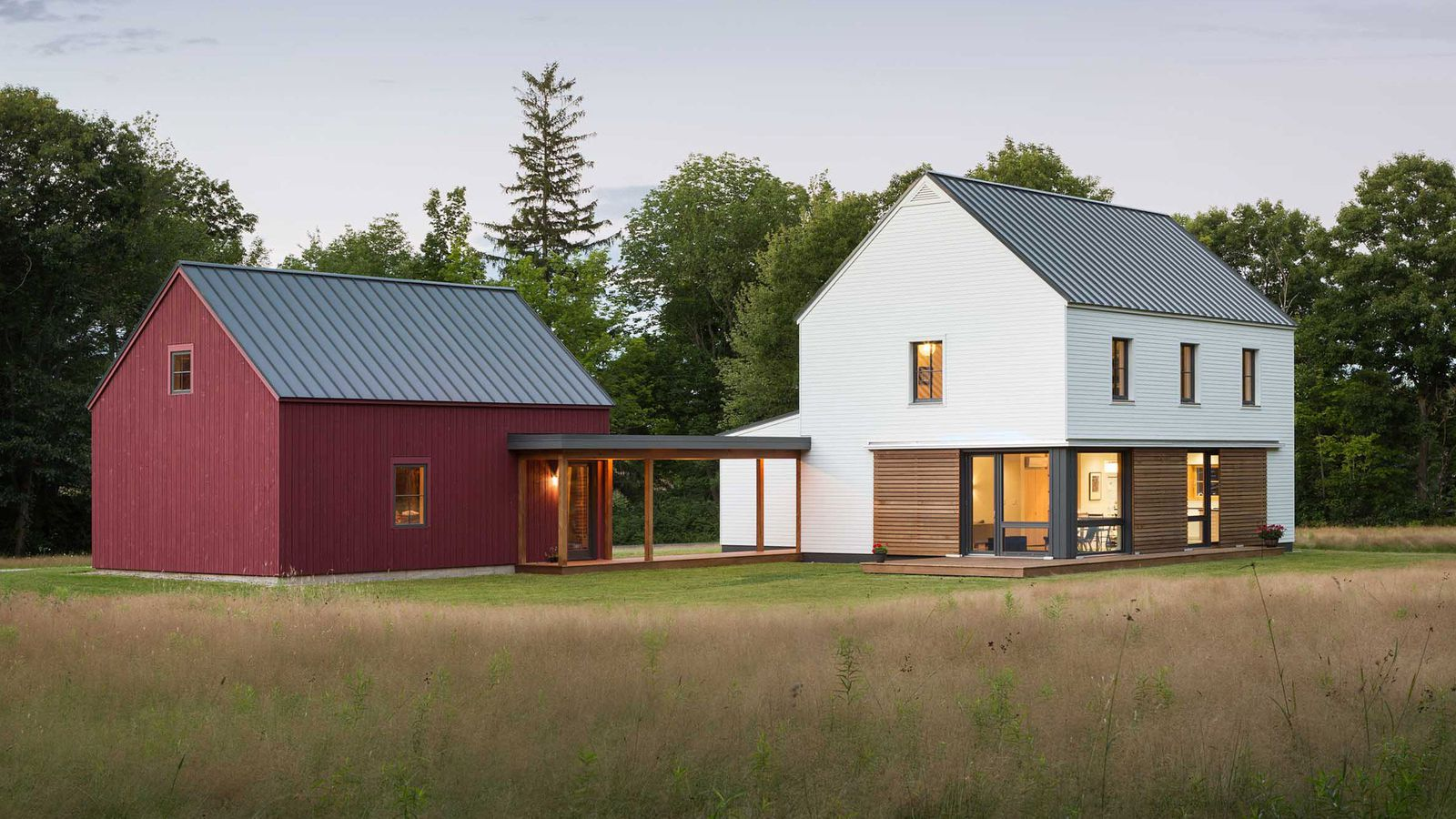 Prefab homes from go logic offer rural modernism for Pre built barn homes