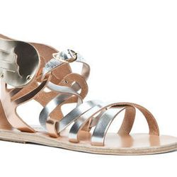 """Ancient Greek Sandals <a href=""""http://www.forwardbyelysewalker.com/fw/DisplayProduct.jsp?code=ANCI-WZ20&d=Womens"""">Nephele sandal</a>: """"I can guarantee that you've never seen a pair of shoes as fly as these!"""""""
