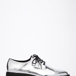 """Metallic Faux Patent Oxfords, <a href=""""http://www.forever21.com/Product/Product.aspx?BR=f21&Category=shoes&ProductID=2000077230&VariantID="""">$32.90</a>"""