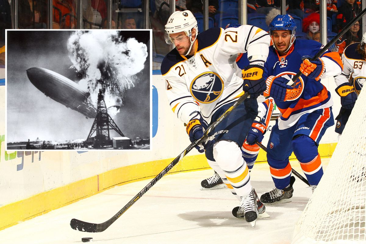 The Islanders lost to Buffalo on Sunday. (inset) Some other disaster