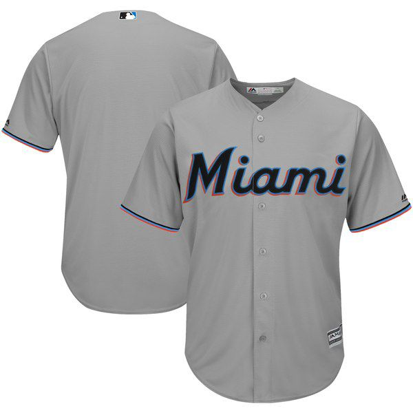 ca71f7b805f5 Marlins Majestic 2019 Official Cool Base Jersey - Gray for  99.99 Fanatics