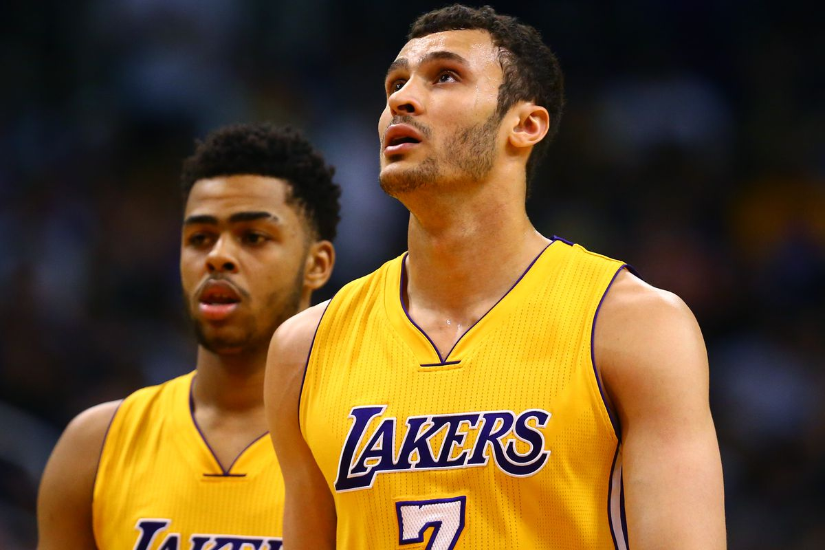 "Larry Nance Jr on D Angelo Russell ""I hope he averages 40"