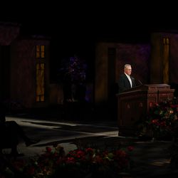 Elder Ulisses Soares of the Quorum of the Twelve Apostles speaks during the Sunday morning session of the 190th Semiannual General Conference of The Church of Jesus Christ of Latter-day Saints on Oct. 4, 2020.