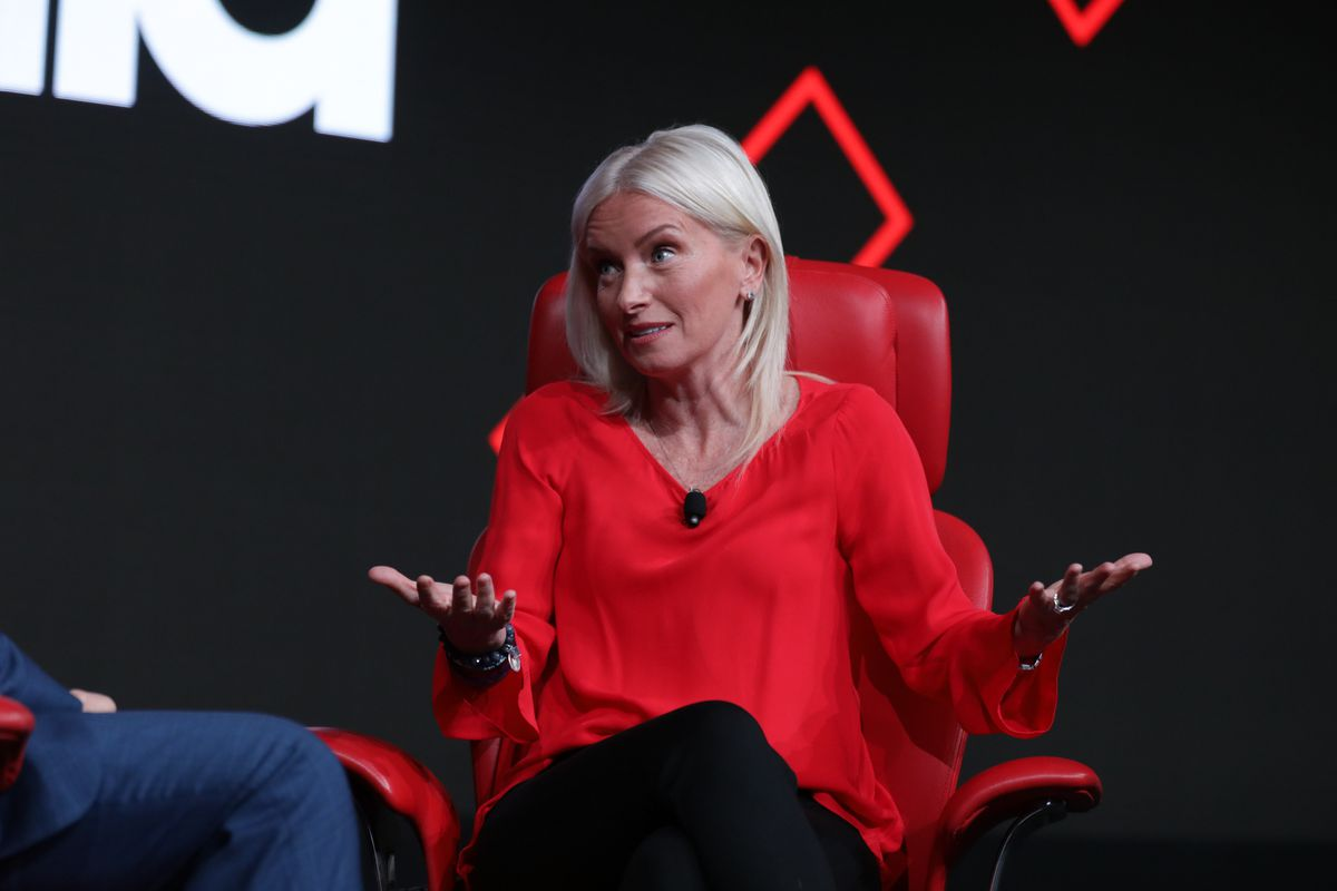 Carolyn Everson, vice president of global marketing solutions at Facebook, onstage at the 2019 Code Media conference in Los Angeles.