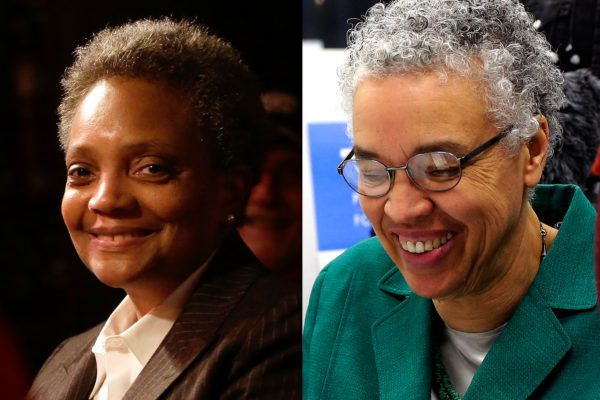 The crowded Chicago mayoral election ended in a runoff. But one thing is certain: The nation's third-largest city will make history by electing its first black female mayor. The landmark election comes as city's black population is shrinking rapidly and neither of the top candidates — Lori Lightfoot and Toni Preckwinkle — won the black vote. The election result raises many questions about how Chicago is changing, showing a disdain for long-ruling Machine politics and a strong desire for policing