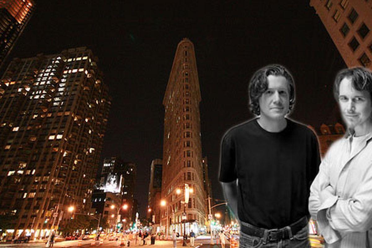 The Flatiron Building, New York; Nick Kokonas and Grant Achatz.