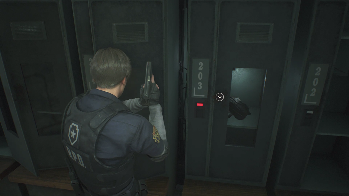 Resident Evil 2Safety Deposit Room Hip Pouch location
