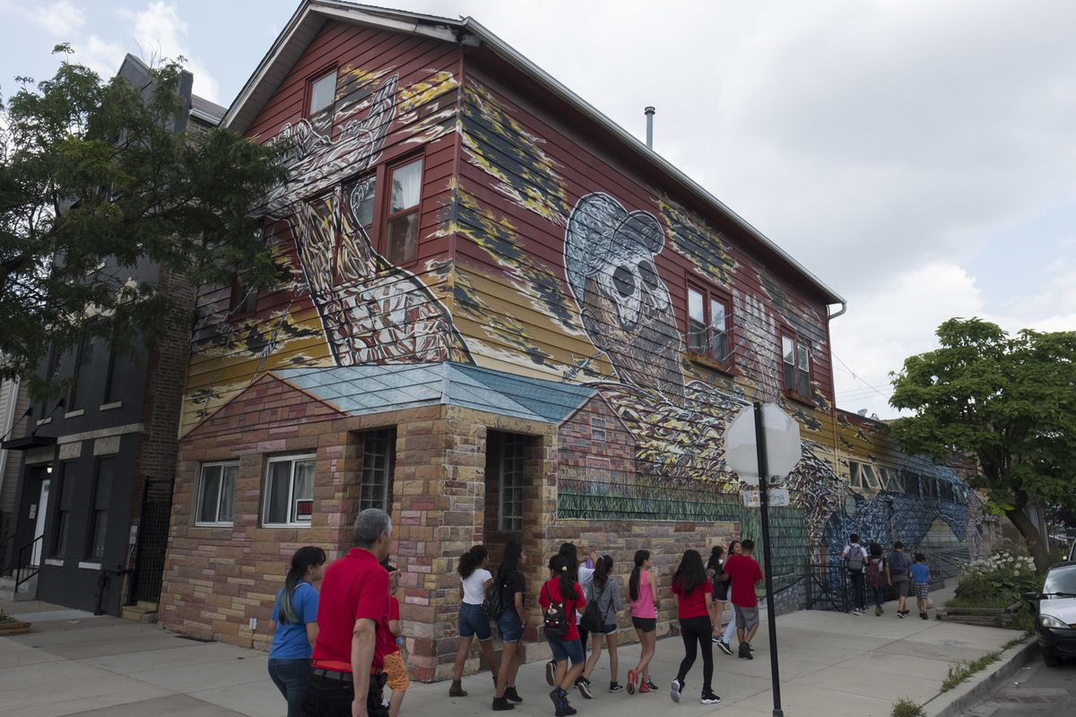 Hector Duarte's home mural has become an attraction.