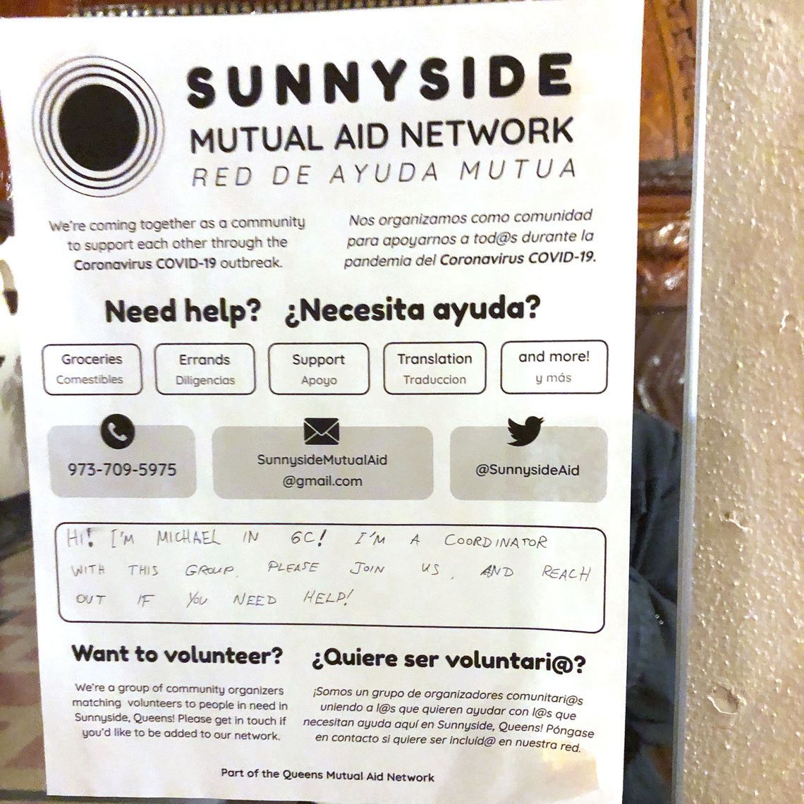 A Sunnyside community group used new school and old school ways to reach people in need.