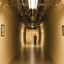 A hallway inside the Granite Mountain Records Vault.