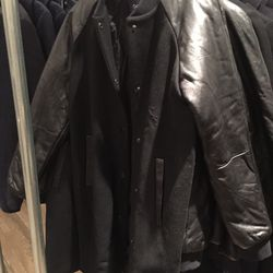 Wool and leather jacket, $150