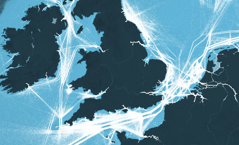 This is an incredible visualization of the world's shipping routes - Vox