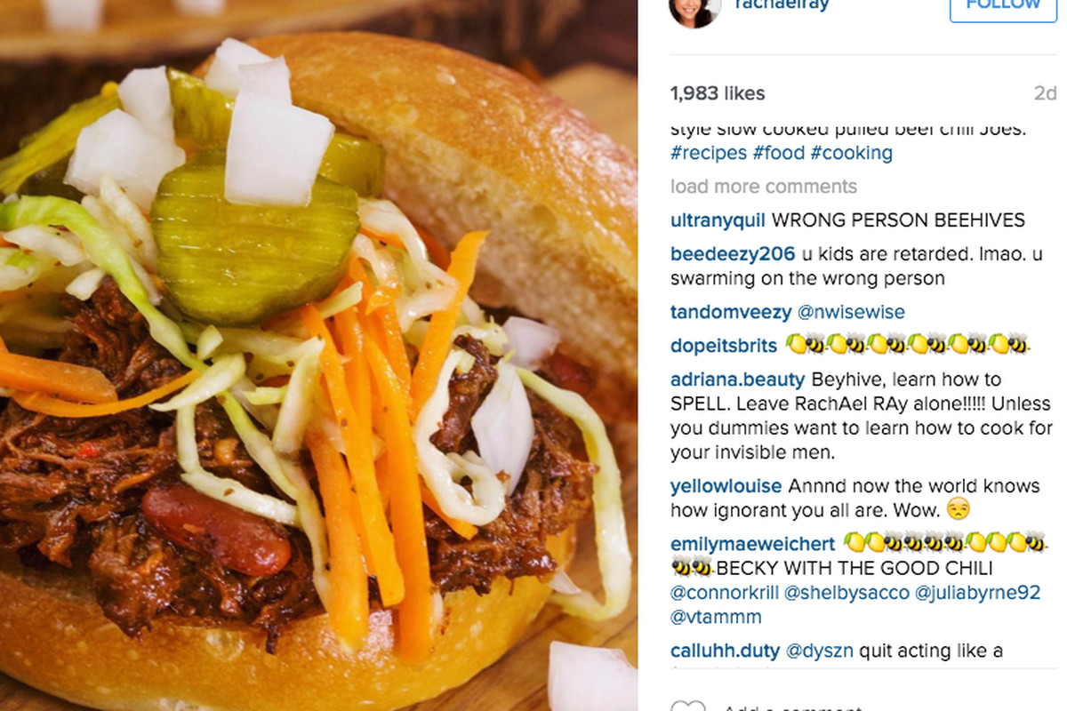 beyoncé fans are confusing rachael ray with rachel roy eater