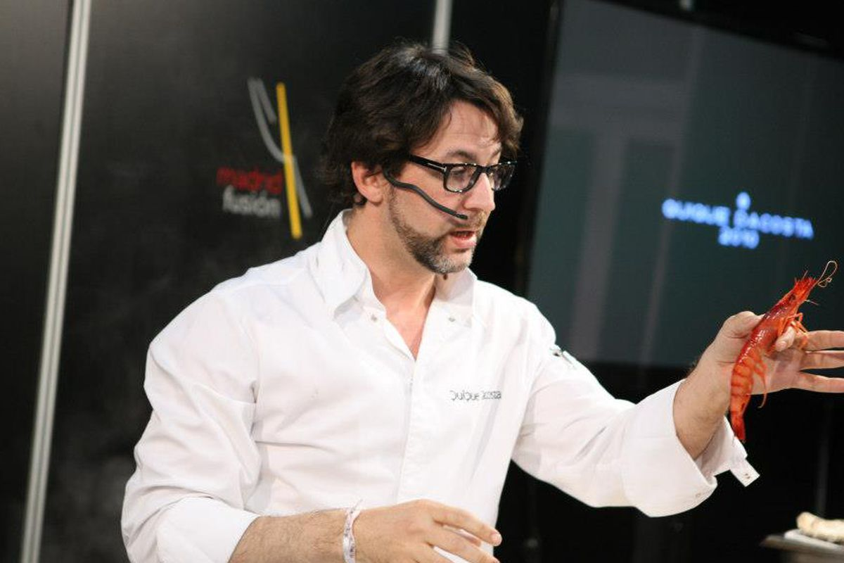 Spanish chef Quique Dacosta at MadridFusión 2013.