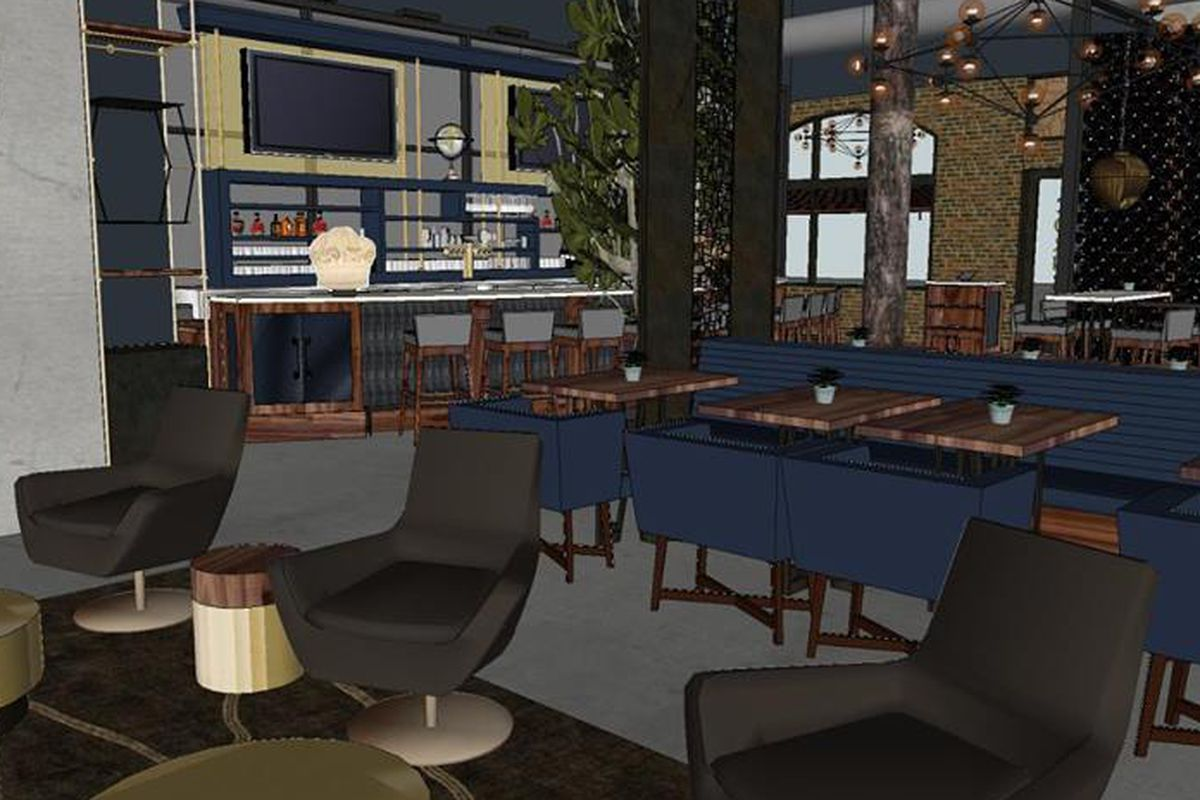 A rendering of the space.
