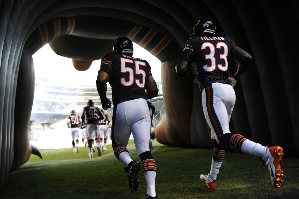 Lance Briggs, greatest 55 for the Chicago Bears... and Bear For Life Charles Tillman