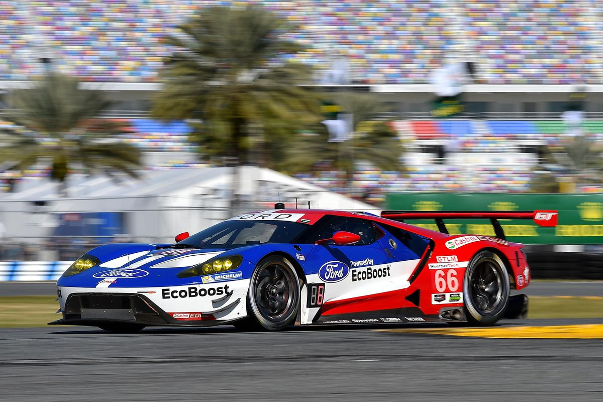 here s how to watch the rolex 24 at daytona featuring the ford gt 39 s debut the verge. Black Bedroom Furniture Sets. Home Design Ideas