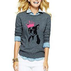 "<b>C. Wonder</b> King Frenchie Intarsia Sweater, <a href=""http://www.cwonder.com/King-Frenchie-Intarsia-Sweater/product/CWW-F13-SW533.html"">$88</a>"