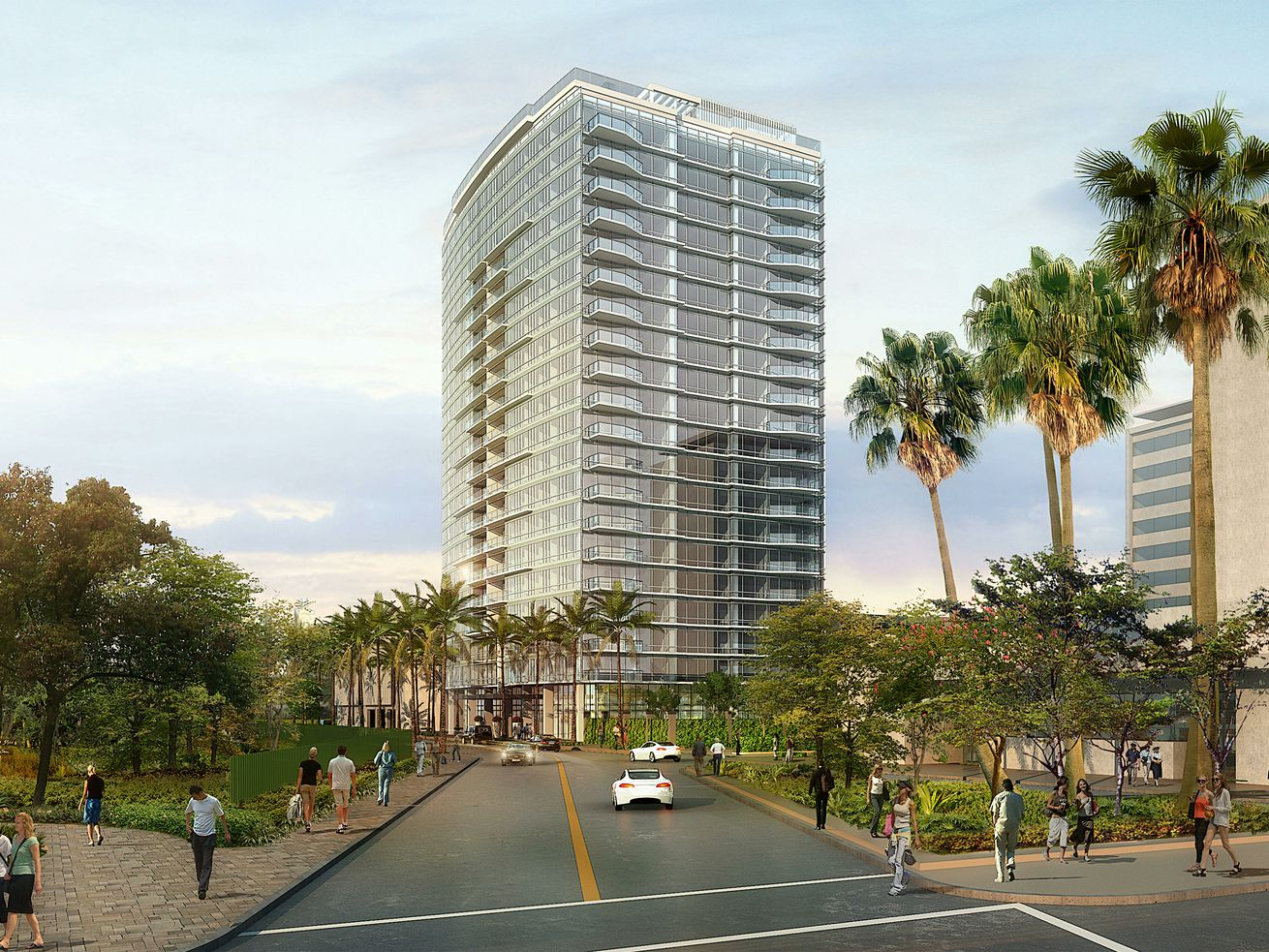 The MVE+Partners-designed tower would rise 20 stories.