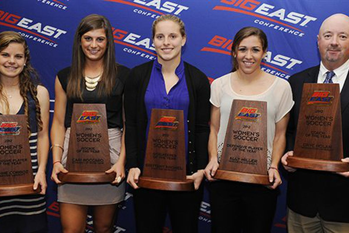 Ally Miller (second from right) was one of six individuals honored by the Big East.